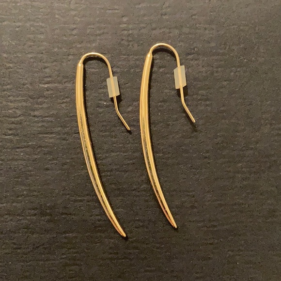Stella & Dot Marlin Gold Drop Earrings